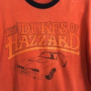 Dukes of Hazzard Logo Orange T-Shiirt Vtg